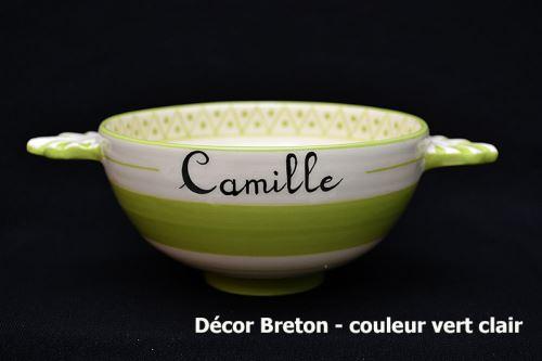 Bol personnalisable décor Breton