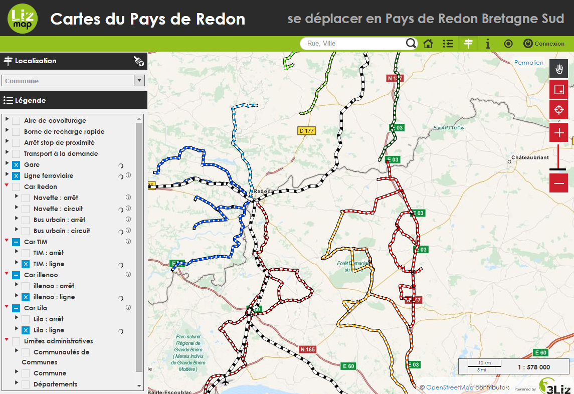 Carte de mobilité en Pays de Redon