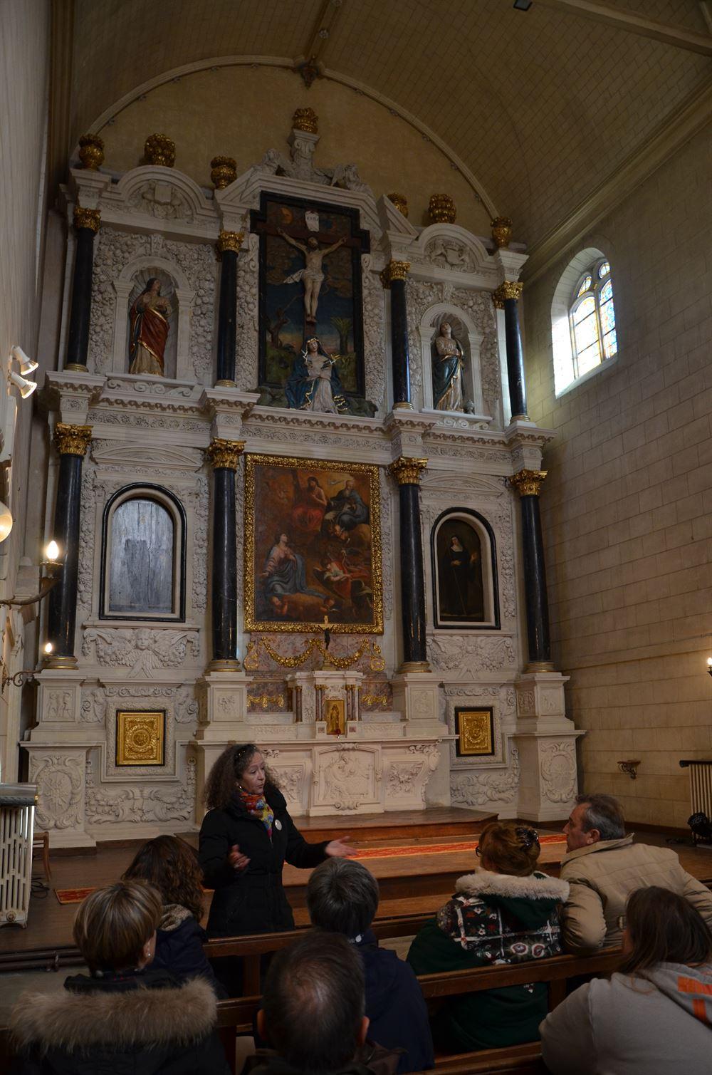 Retable - Monastere des Calvairiennes à Redon
