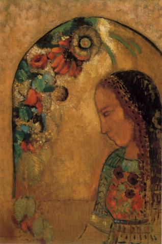 La Dame aux fleurs - Odilon Redon