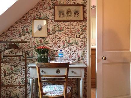 La Chambre Rose - Manoir de Pommery à Sixt sur Aff