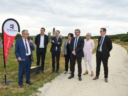 Inauguration site Mégalithes et Landes de St Just