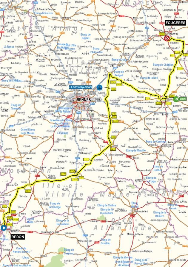 etape 4 Tour de France 2021 Redon Fougères