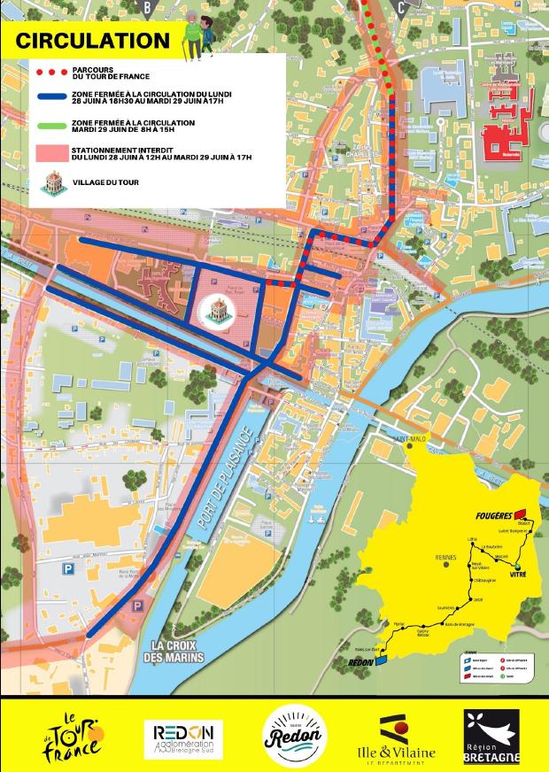 Consignes de circulation à Redon - Tour de France